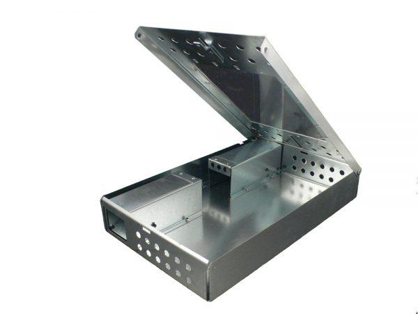 Chwytacz metalowy na myszy z szybką (podwójny)-3011
